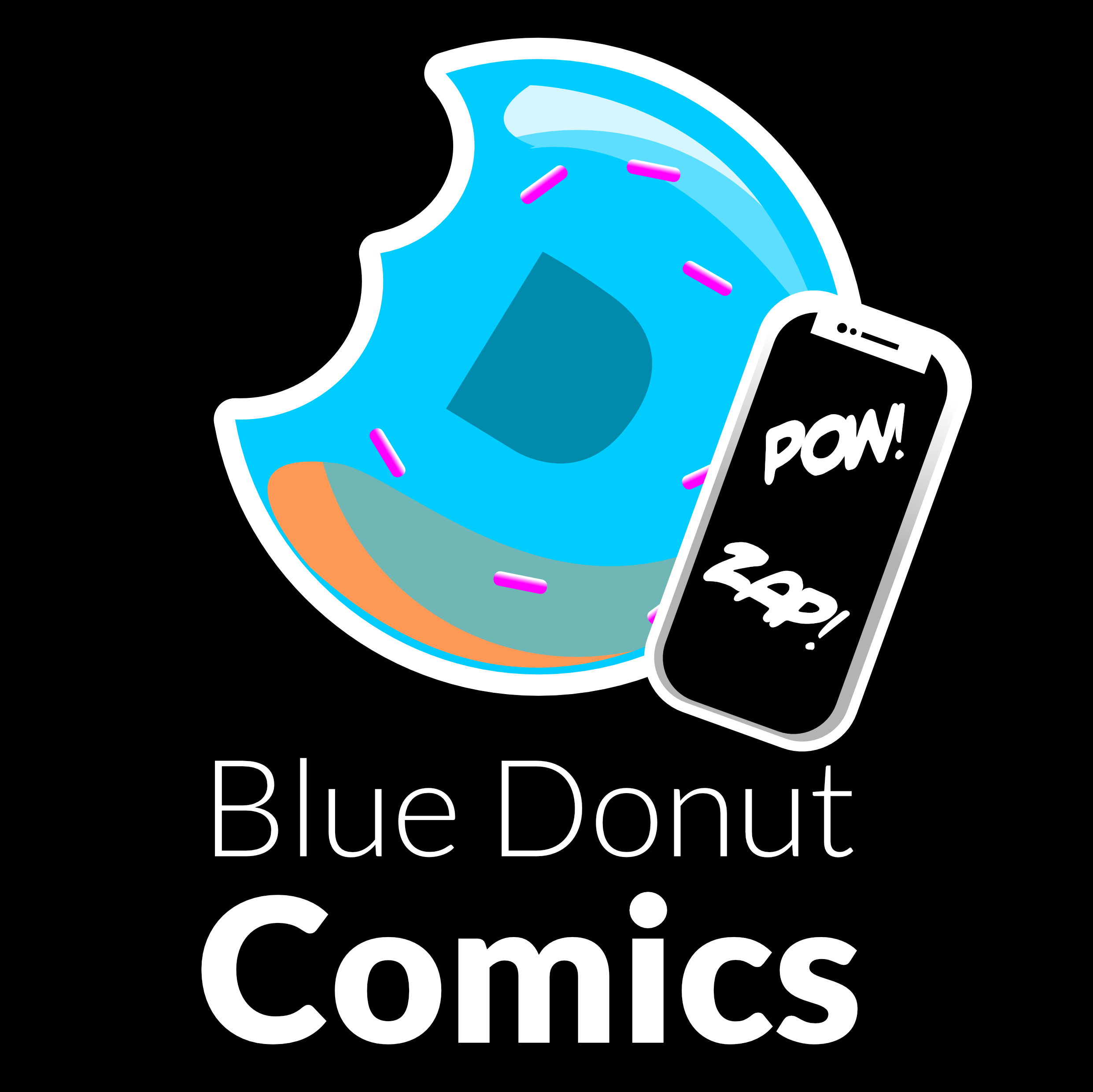 Blue Donut Studios creates and sells comics