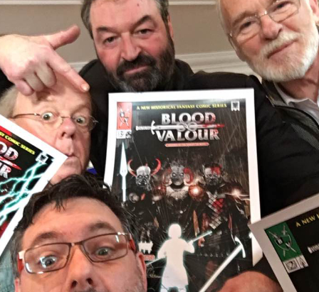 Game of Thrones Cast visit the Blood and Valour Team