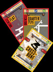 Line the skateboard card game