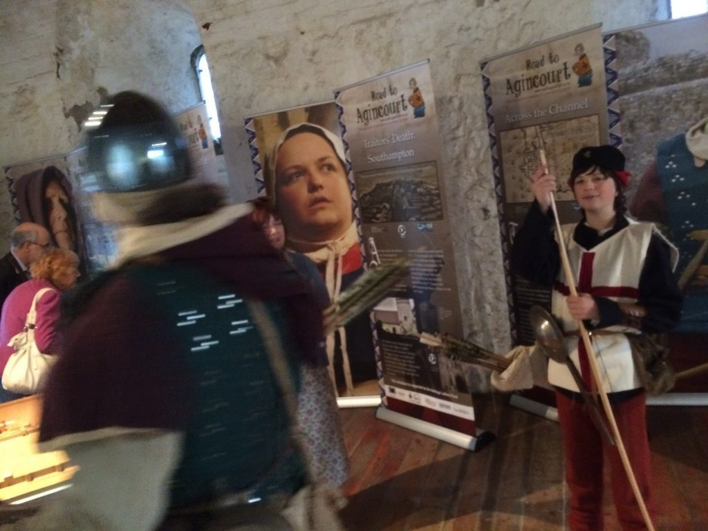 The Road to Agincourt travelling AR Exhibition at Portchester Castle